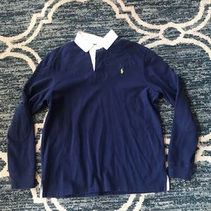 Men's Polo Ralph Lauren Rugby Shirt Custom Fit Xl